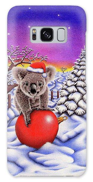 Koala On Christmas Ball Galaxy Case by Remrov