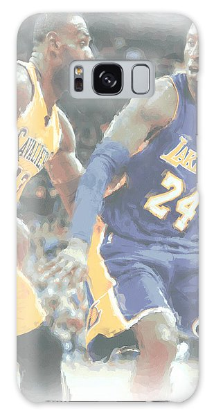 Kobe Bryant Lebron James 2 Galaxy Case by Joe Hamilton