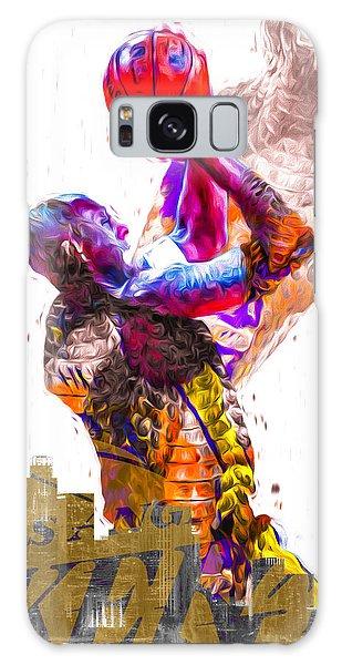 Kobe Bryant Los Angeles Lakers Digital Painting Snake 1 Galaxy Case by David Haskett