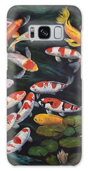 Koi Among The Lily Pads II Galaxy Case