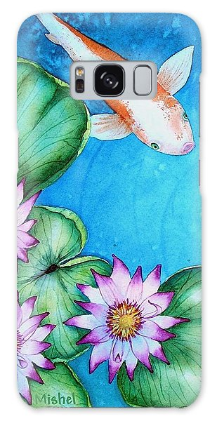 Koi And Lilies Cards And Prints  Galaxy Case