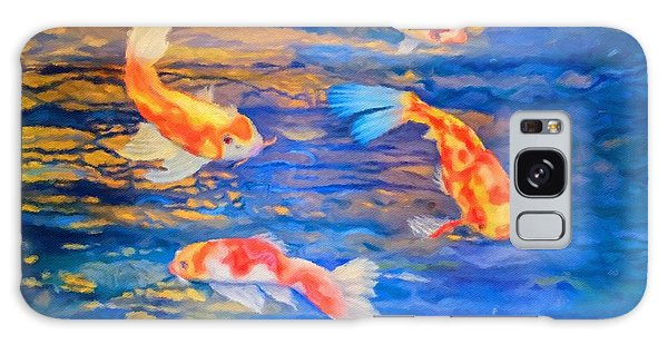 Koi At Play Galaxy Case