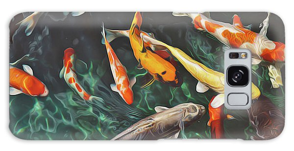 Galaxy Case featuring the painting Koi by Harry Warrick