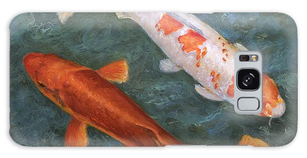 Koi Pair Galaxy Case by Sandra Nardone