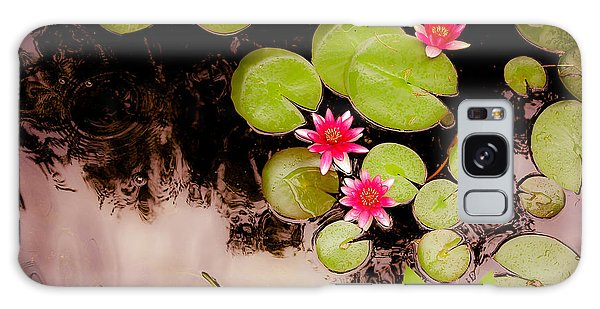 Koi Pond With Water Lilies Galaxy Case