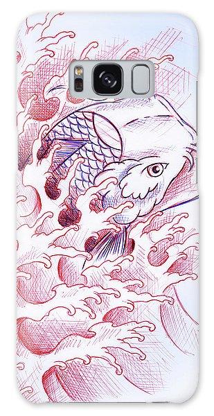Koi Galaxy Case - Koi Tattoo Sketch by Samuel Whitton