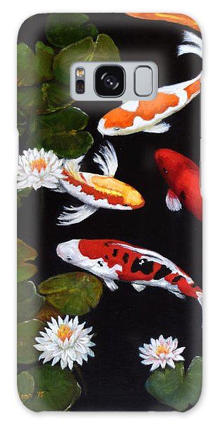 Koi V Galaxy Case by Sandra Nardone