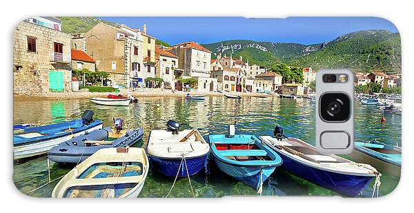 Komiza On Vis Island Turquoise Waterfront Galaxy Case by Brch Photography