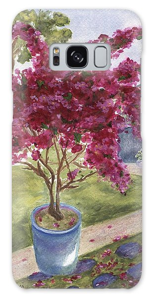 Galaxy Case featuring the painting Kona Bougainvillea by Jamie Frier