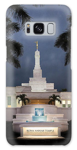 Kona Hawaii Temple-night Galaxy Case