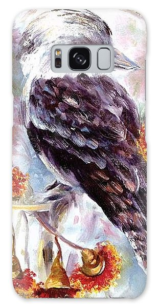 Kookaburra In Red Flowering Gum Galaxy Case