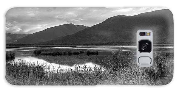 Kootenay Marshes In Black And White Galaxy Case