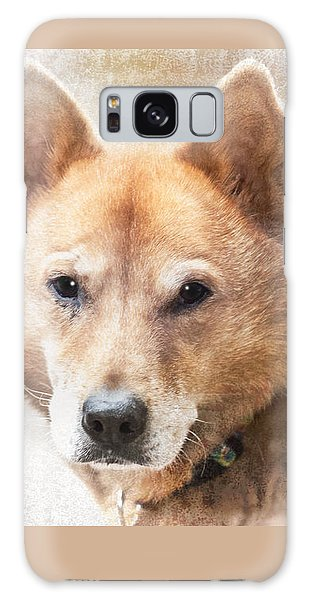 Korean Jindo Portrait Galaxy Case