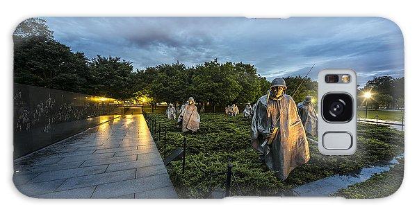 Galaxy Case featuring the photograph Korean War Memorial by David Morefield