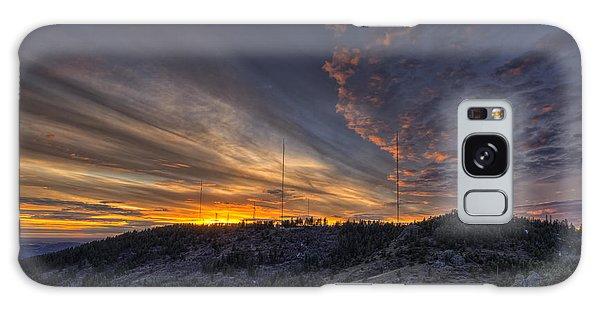 Mountain Sunset Galaxy S8 Case - Krell Hill Sunset by Mark Kiver