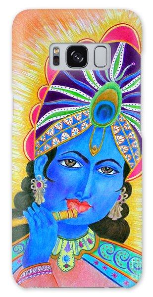 Krishna -- Colorful Portrait Of Hindu God Galaxy Case