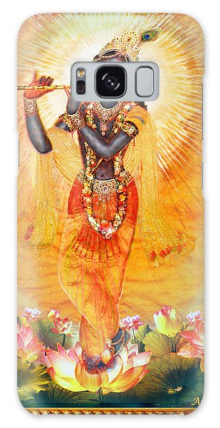 Krishna With The Flute Galaxy Case