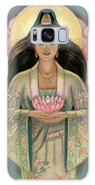 Kuan Yin Pink Lotus Heart Galaxy Case by Sue Halstenberg
