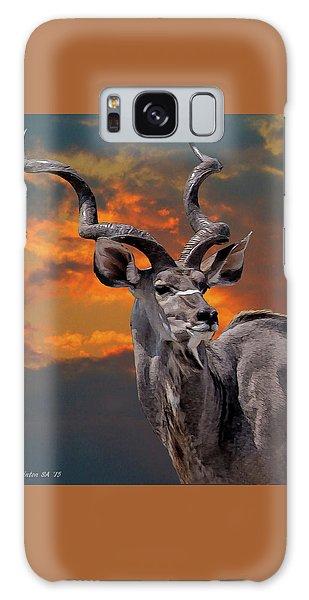 Kudu At Sunset Galaxy Case