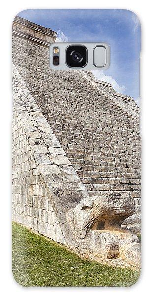 Kukulkan Pyramid At Chichen Itza Galaxy Case