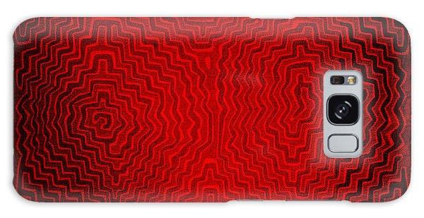 Galaxy Case featuring the digital art Kuna Indian Sun Heat Rays by Vagabond Folk Art - Virginia Vivier