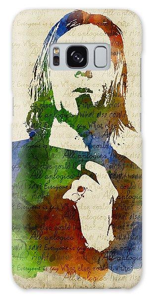 Kurt Cobain Watercolor Galaxy Case by Mihaela Pater