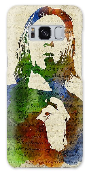 Kurt Cobain Watercolor Galaxy Case by Mihaela Pater