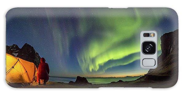 Kvalvika Under The Lights Galaxy Case by Alex Conu