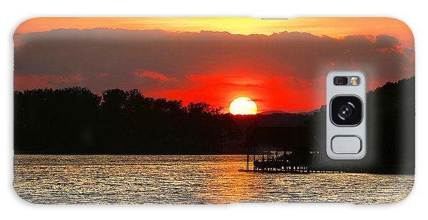 Bloody Red Sunset Smith Mountain Lake Galaxy Case