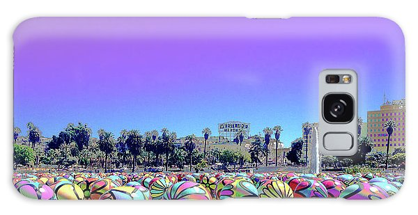 Galaxy Case featuring the photograph Los Angeles Glows In The Spheres Of Macarthur Park by Lorraine Devon Wilke