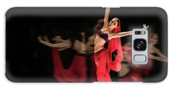 Galaxy Case featuring the photograph La Bayadere Ballerina In Red Tutu Ballet by Dimitar Hristov