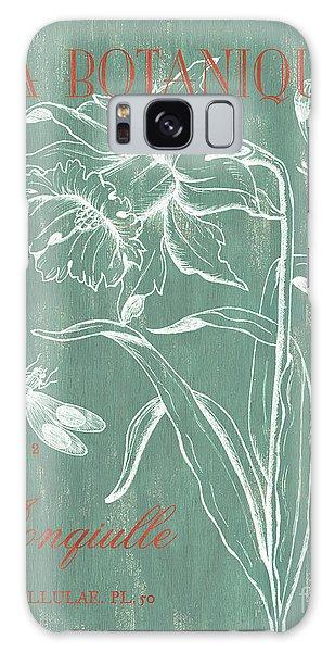 Scientific Illustration Galaxy Case - La Botanique Aqua by Debbie DeWitt