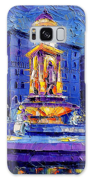 Abstract People Galaxy Case - La Fontaine Des Jacobins by Mona Edulesco