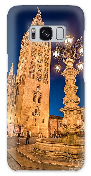 Town Square Galaxy Case - La Giralda by Delphimages Photo Creations