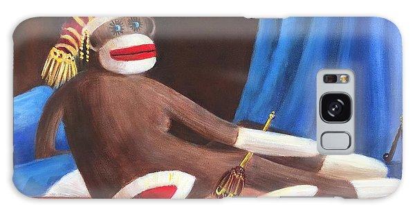 La Grande Sock Monkey Galaxy Case by Randy Burns