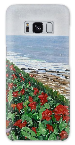 Galaxy Case featuring the painting La Jolla Beach, San Diego by Ray Khalife