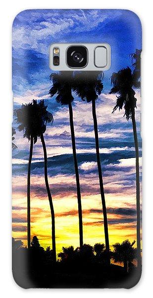 La Jolla Silhouette - Digital Painting Galaxy Case by Sharon Soberon