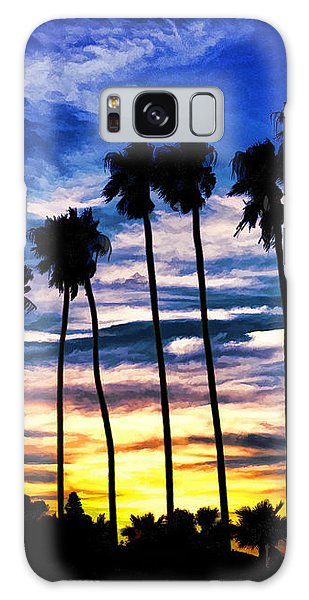 La Jolla Silhouette - Digital Painting Galaxy Case