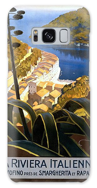 La Riviera Italienne, Travel Poster For Enit, Ca. 1920 Galaxy Case