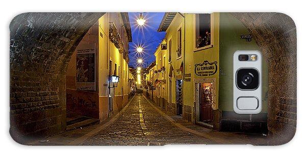 La Ronda Calle In Old Town Quito, Ecuador Galaxy Case
