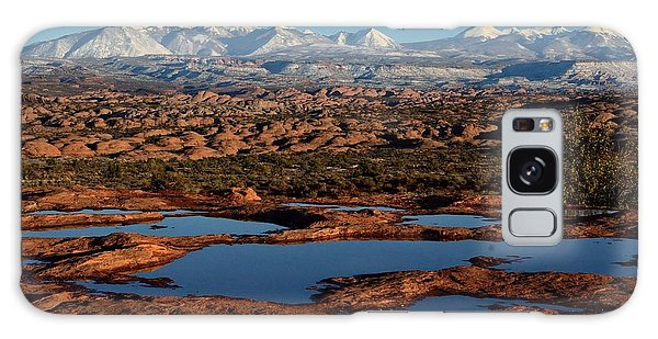 La Sal Mountains And Ephemeral Pools Galaxy Case