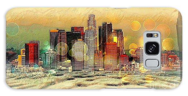 Los Angeles Skyline By Nico Bielow Galaxy Case by Nico Bielow