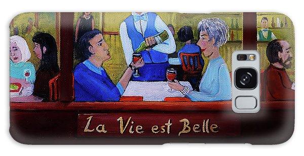 La Vie Est Belle Galaxy Case by Reb Frost