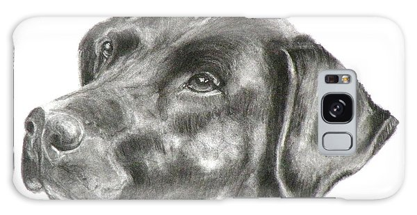 Lab Charcoal Drawing Galaxy Case