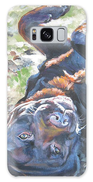 Chocolate Lab Galaxy Case - Labrador Retriever Chocolate Fun by Lee Ann Shepard