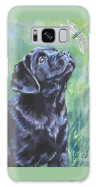 Labrador Retriever Pup And Dragonfly Galaxy Case by Lee Ann Shepard