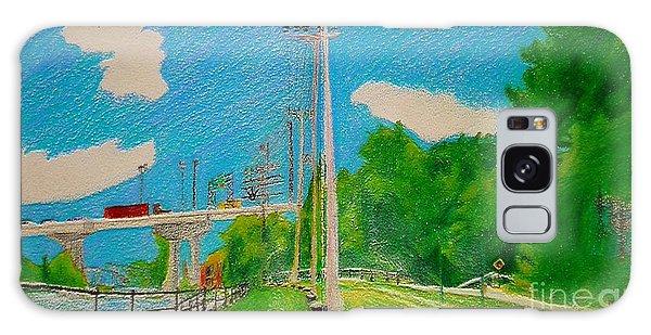 Lachine Canal Pencil Crayon Galaxy Case