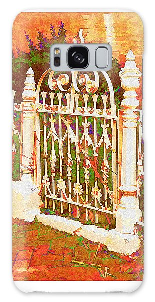 Lacy Garden Gate Galaxy Case
