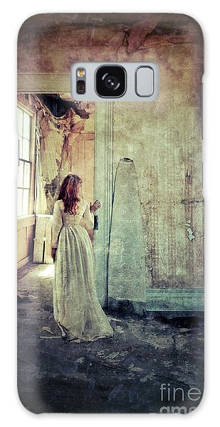 Lady In An Old Abandoned House Galaxy Case by Jill Battaglia