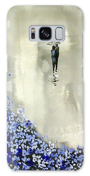 Lady In Blue Galaxy Case by Raymond Doward